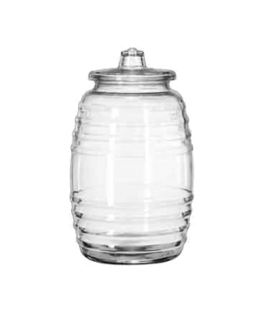 "Barrel Canister, 10 liter, 15"" H (height does not include lid), (H 15""; T 5-3/4"""