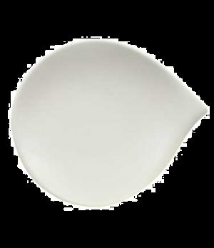 """Plate, 7-7/8"""" x 6-3/4"""", flat, premium porcelain, Flow"""
