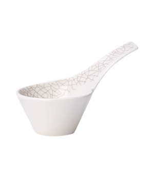 Dip Bowl, 2 oz., free form, with handle, premium porcelain, Amarah Terra