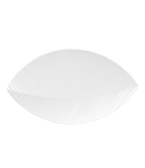 Ethereal Tray, leaf shape, dishwasher safe, bone china, white