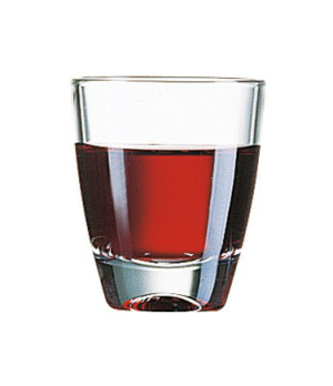 "Shot Glass, 1-1/4 oz., glass, Arcoroc (H 2""; T 1-5/8""; B 1""; M 1-5/8"")"