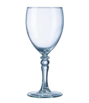 "Wine Glass, 8-1/2 oz., tall, fully tempered, glass, Arcoroc, Siena (H 6-13/16"";"