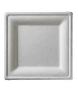 """Disposable Plate, 6-2/7"""" x 6-2/7"""" (16 x 16 cm), square, biodegradable/compostabl"""