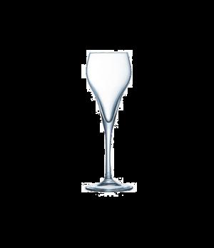 Brio Flute Glass, 5-1/4 oz., sheer rim, Effervescent technology, glass, Arcoroc,