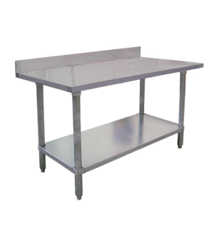"(22082) Standard Work Table, 60""W x 24""D x 38""H, 18/430 stainless steel top with"