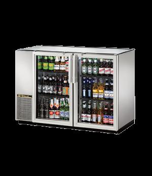 """Back Bar Cooler, two-section, 24"""" deep, 34-1/4"""" high, (48) 6-packs or (2) 1/2 ke"""