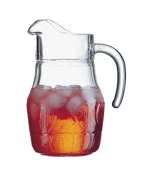 "Pitcher, 43-3/4 oz., glass, Luminarc, Fleur, (H 8-5/8""; M 7"")"