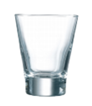 "Tumbler Glass, 3 oz., glass, Arcoroc, Shetland, (H 3""; M 2-1/4"")"