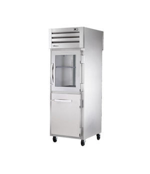 SPEC SERIES® Pass-thru Refrigerator, one-section, stainless steel front & sides,