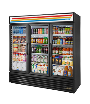 Refrigerated Merchandiser, three-section, True standard look version 01, (12) sh