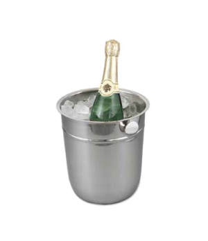 "Wine Bucket, 8-3/4"" dia. x 9-1/2""H, 18/8 stainless steel"