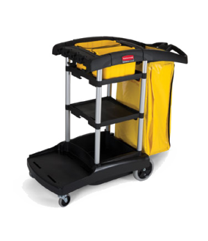 "High Capacity Cleaning Cart, 49-3/4"" L x 21-3/4"" W x 38.38"" H, 5 cu. ft, lock 'n"
