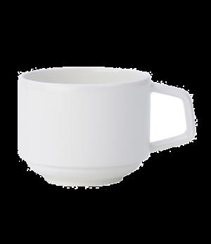 Cup, 7-1/2 oz., stackable, premium porcelain, Affinity
