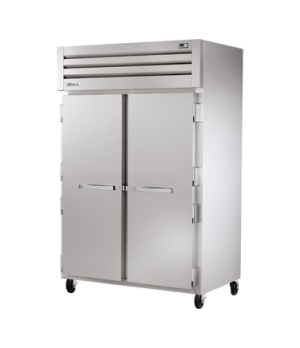 SPEC SERIES® Refrigerator, Reach-in, two-section, stainless steel front, aluminu
