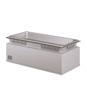 Built-In Heated Well, rectangular, insulated, full size pan, top or bottom mount