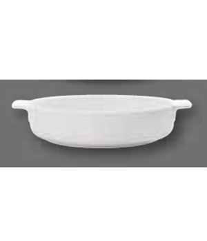 "Baking Dish, 9-1/2"" dia., round, with handles, oven, microwave and dishwasher sa"