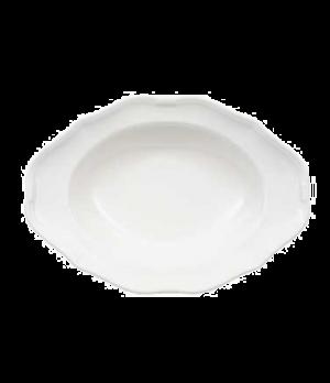 """Plate, 11-3/8"""" x 8-1/4"""", 19 oz., oval, deep, premium porcelain, La Scala"""