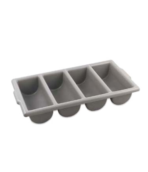 "Cutlery Box, 21-1/2"" x 11-3/4"" x 3-3/4"", 4-compartment, seamless, dishwasher saf"
