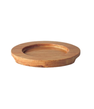 "Board Stand, 6-1/2"" dia. (14 cm), round, for CI MH0013-06, Oven to Table, wood"
