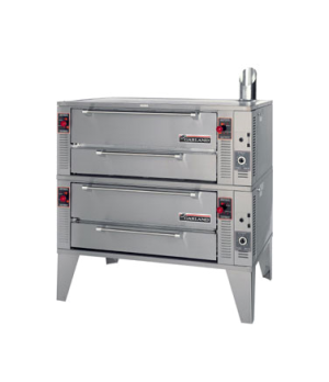 """Pizza Oven, deck-type, gas, double 75"""" wide with two 60"""" bake decks, 1-1/2"""" thic"""