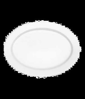 "Plate, 12-5/8"" x 9-1/2"", oval, premium porcelain, Corpo White"