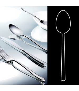 """Table Spoon, 8"""", stainless steel, La Tavola, Yuki (USA stock item) (minimum = ca"""