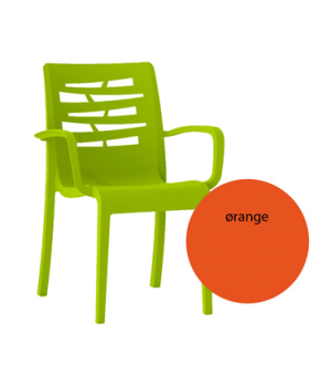 Essenza Stacking Armchair, designed for outdoor use, air molding technology resi