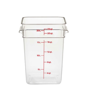 """CamSquare® Food Container, with handles, 22 quart, 11-1/4"""" x 12-1/4"""" x 15-3/4"""","""