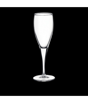 Champagne Flute Glass, 5-3/4 oz., pulled stem, Bormioli, Fiore (USA stock item)