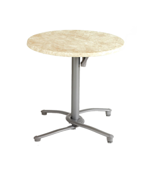 "Tilt Top Base 100, aluminum, for daily storage, for use with 30"" or smaller tabl"