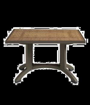 "Havana Outdoor Pedestal Table, MPC® technology, 48"" x 32"", with umbrella hole,"
