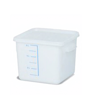 Space Saving Storage Container, 6 qt., square, commercial dishwasher safe with d