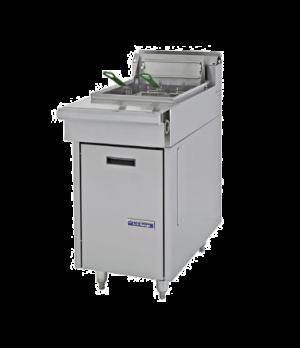 Cuisine Fryer, gas, Range Match, 35 lb. fat capacity, thermostat controls, 1-1/4