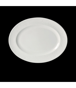 "Platter, 13-1/2"", oval, narrow rim, freezer/microwave/dishwasher safe, lifetime"