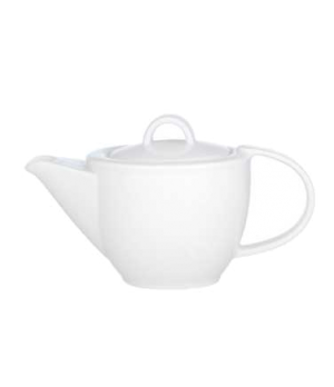 Teapot #5, 13 oz., with lid, premium porcelain, Corpo White