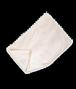 "Laundry Net, synthetic mesh bag, locking closure, 36"" L x 24"" W, white"
