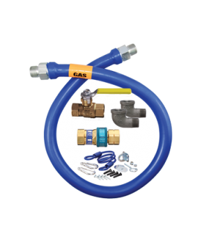 "Blue Hose™ Moveable Gas Connector Kit, 1"" inside dia., 24"" long, covered with st"
