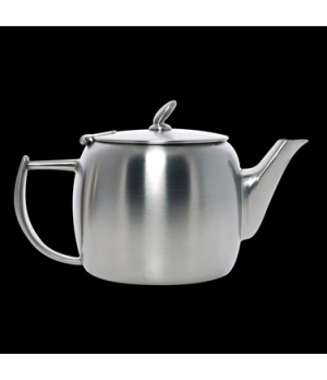 Teapot, 12 oz., with lid, long spout, stainless steel, La Tavola, Café and Club