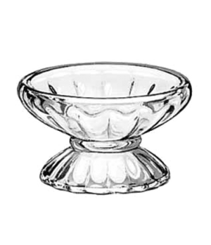 "Sherbet Dish, 4-1/2 oz., glass, (H 2-3/8""; T 4-1/8""; B 3""; D 4-1/8"")"