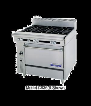 "Cuisine Series Heavy Duty Range, gas, 36"", (4 30,000 BTU open burners 18"", 1-1/4"