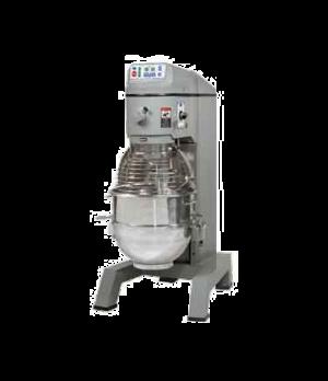 Planetary Pizza Mixer, 60 qt., floor model, 2 fixed-speed, #12 hub, includes: el