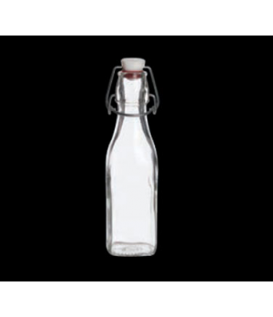 Bottle, 8-1/2 oz., swing top, tempered glass, Bormioli (priced per case, packed