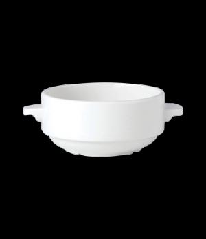 Soup Cup, 10 oz., lug handles, stackable, vitrified china, Performance, Simplici