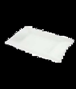 """Plate, 12-5/8"""" x 8-1/4"""", rectangular, premium porcelain, Cera"""