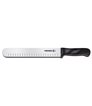 "Slicer Knife, 10"", 1-1/2"" width at handle, granton edge, polypropylene handle"
