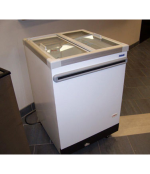 Ice Cream Cabinet, (2) tub or (1) basket capacity, 4.03 cu. ft., sliding glass l