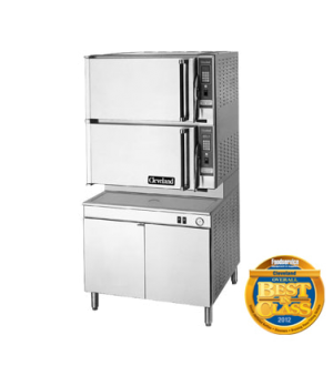 """ConvectionPro® Steamer, Convection, Electric, 2 compartments, 36"""" cabinet base,"""