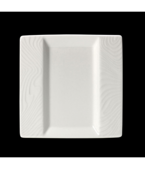 "Plate, 6-1/2"" x 6-1/2"", square, flat, rimmed, freezer/microwave/dishwasher safe,"