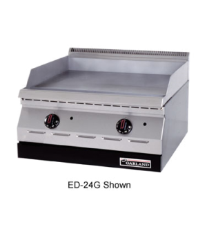 "Designer Series Griddle, electric, 24"" W, countertop, 24"" x 18"" grill area, smoo"