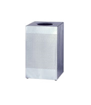 """Silhouette Indoor Receptacle, 30"""" H, 18-3/4"""" square, 29 gallon capacity, open to"""